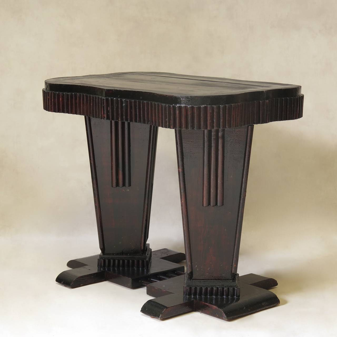 Unusual Art Deco Table and Chair Set, France, 1930s 9