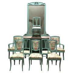 Ten-Piece Art Nouveau Set, France, circa 1910s