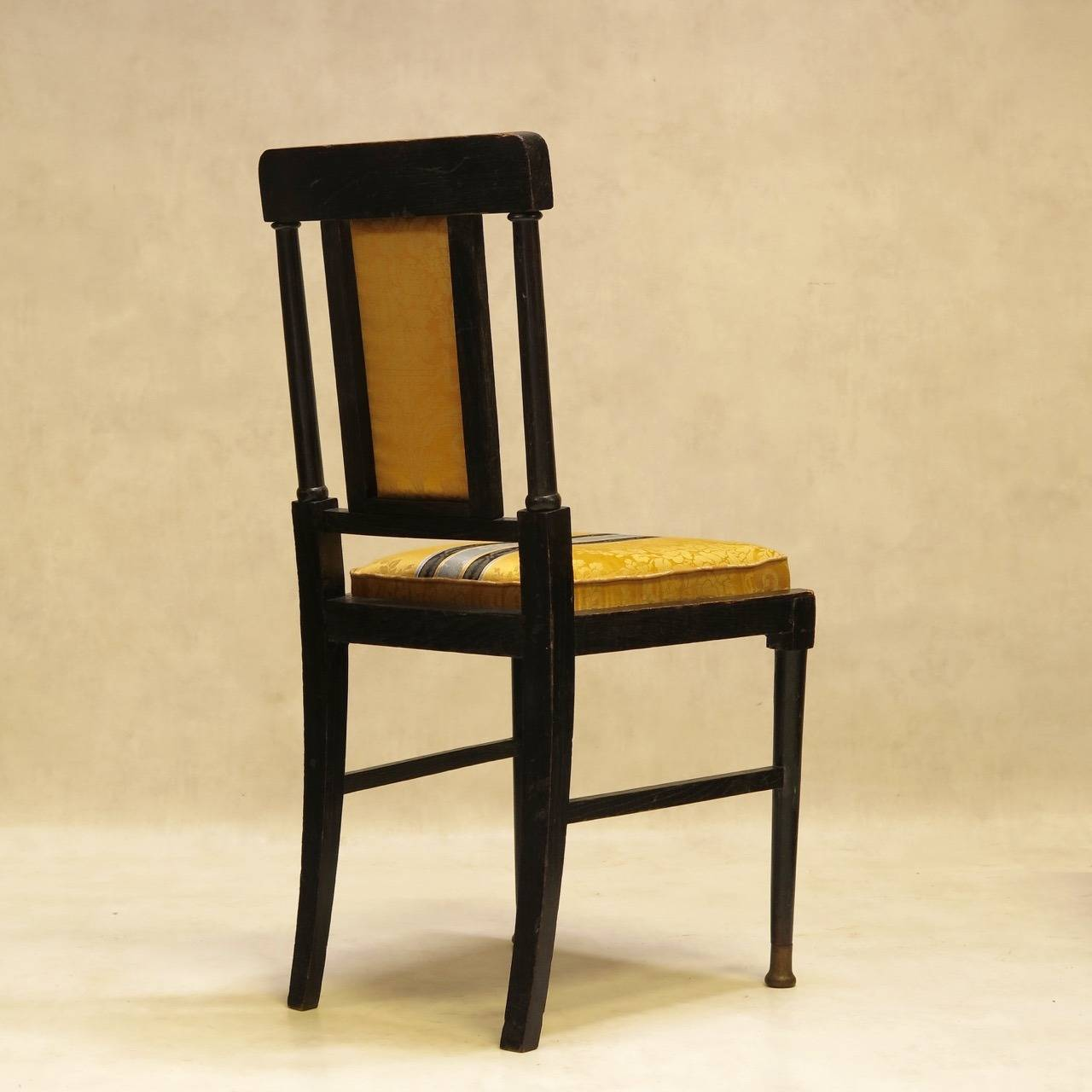 Six Aesthetic Movement English Dining Chairs After E W