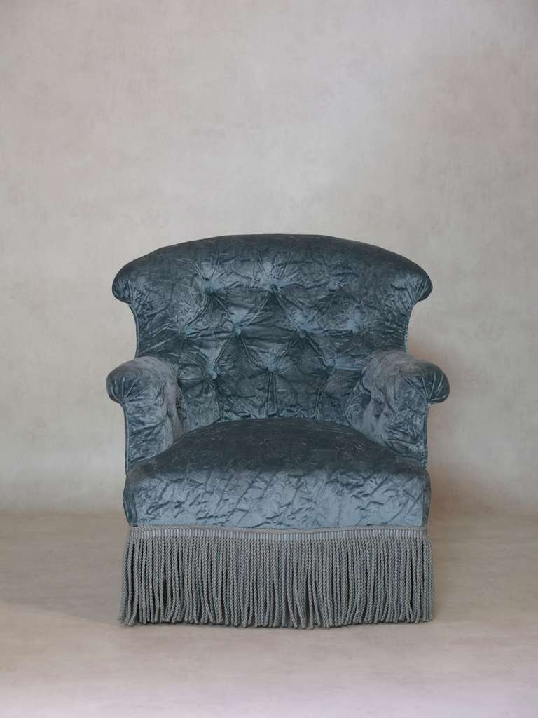 Napoleon III Tufted Settee and Two Armchairs, France, 19th Century For Sale 1