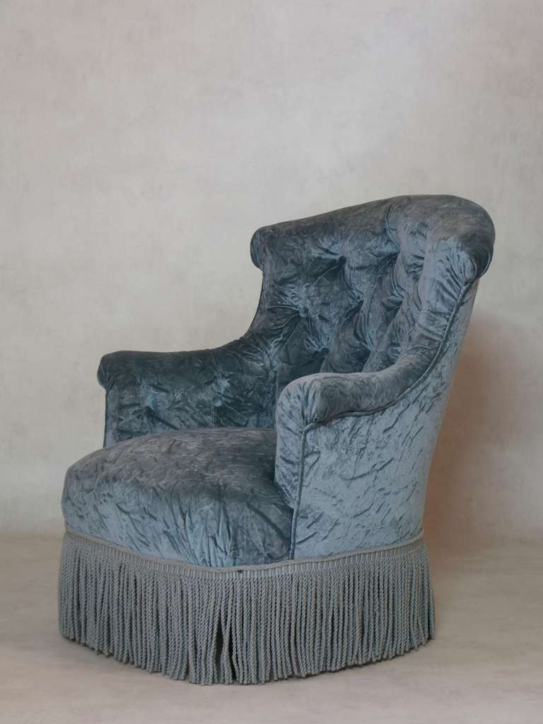Napoleon III Tufted Settee and Two Armchairs, France, 19th Century For Sale 3
