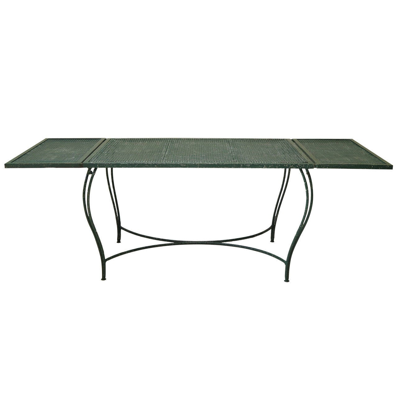 Wrought Iron Garden Dining Table - France, 1950s For Sale at 1stdibs