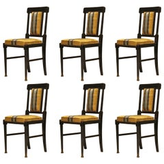 Six Aesthetic Movement English Dining Chairs After E W Godwin