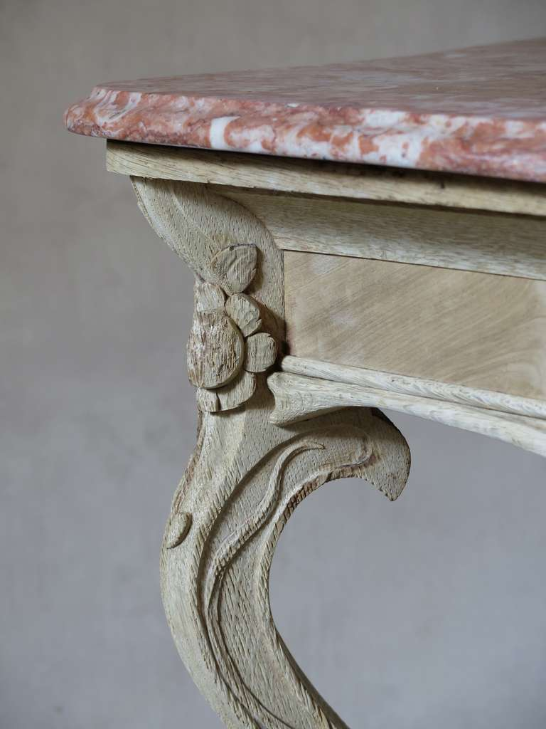 art nouveau oak and marble console table france 1900s at 1stdibs. Black Bedroom Furniture Sets. Home Design Ideas