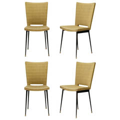 Set of Four Chairs by Colette Gueden, France, 1950s