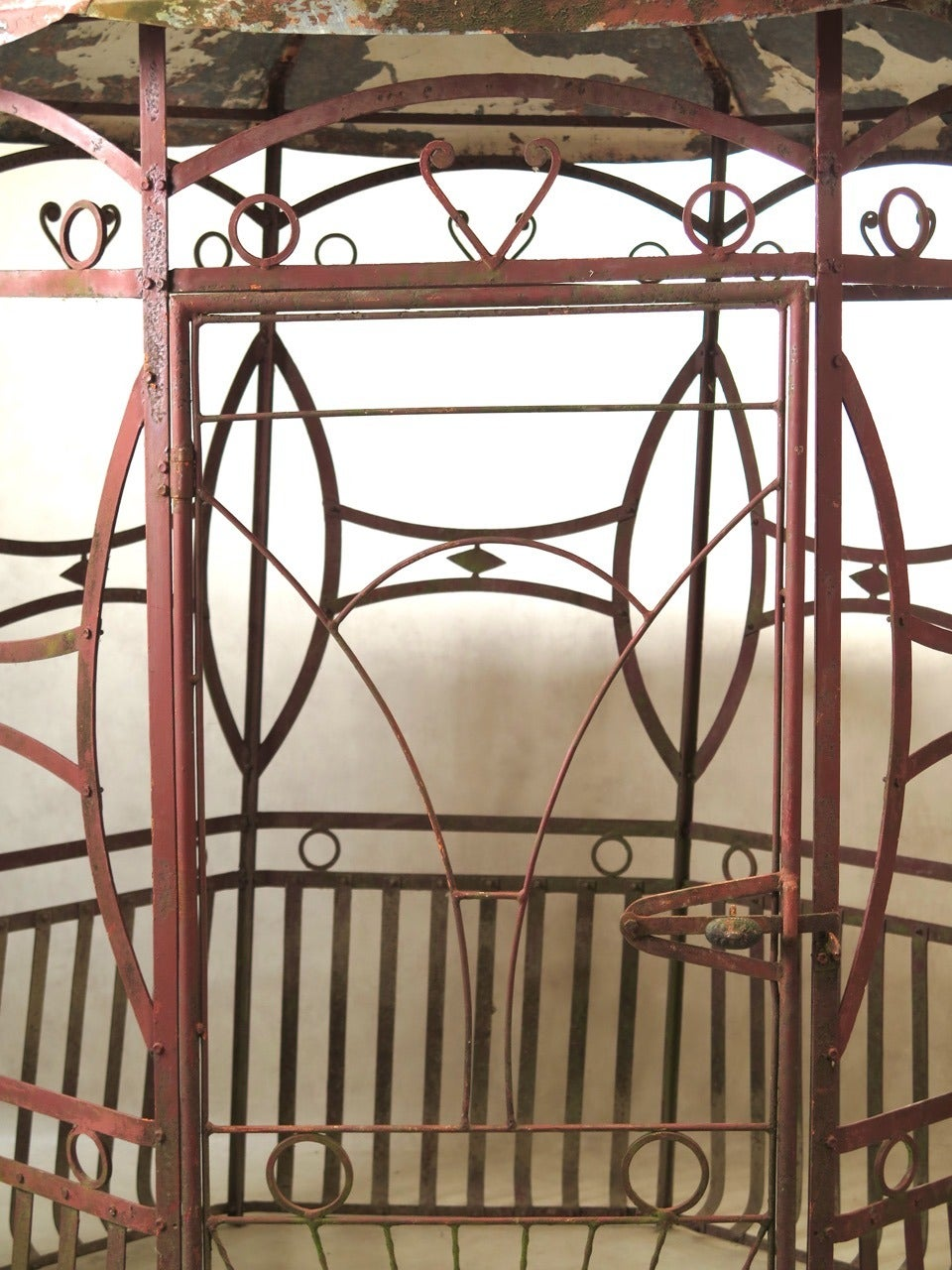 wrought iron art deco pergola france 1920s for sale at. Black Bedroom Furniture Sets. Home Design Ideas