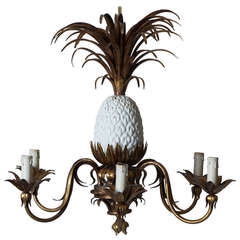 Pineapple Chandelier - France, 1950s