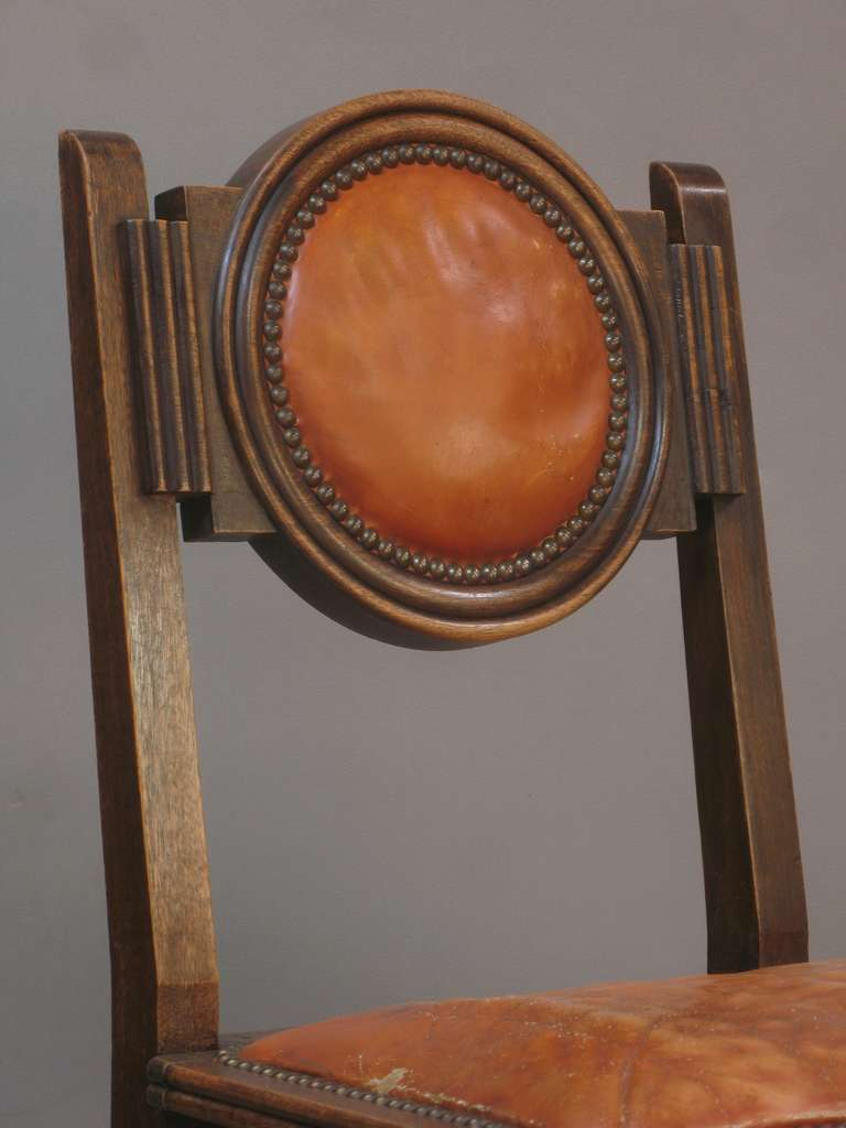 Set of six art deco chairs france 1930 39 s at 1stdibs for Deco francaise