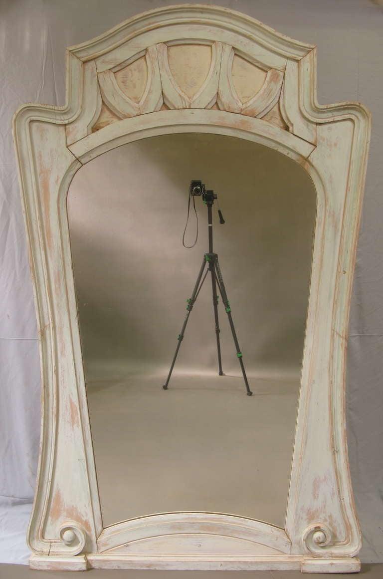 Very Tall Art Nouveau Mirror - France, 1900's 2