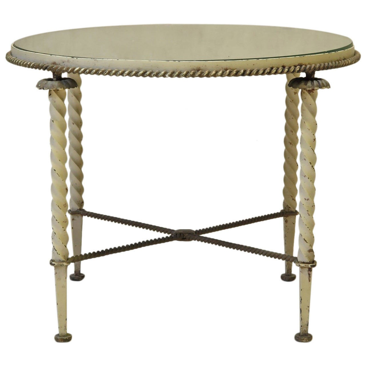 Occasional Table Attributed to Gilbert Poillerat, France, 1940s