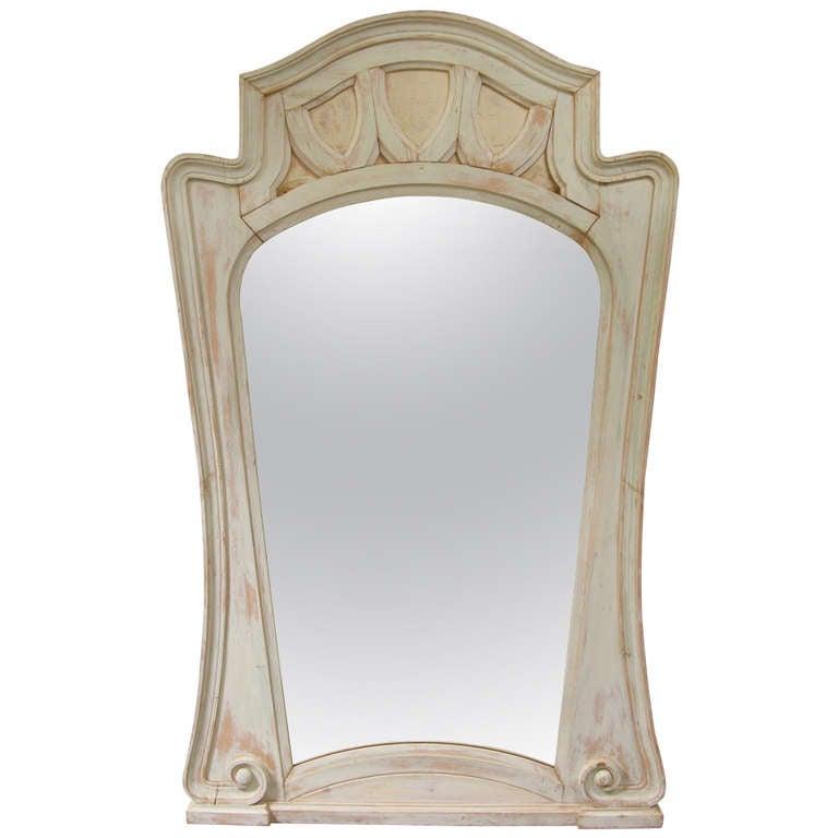 Very Tall Art Nouveau Mirror - France, 1900's 1