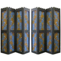 Pair of French Art Deco Paper Screens