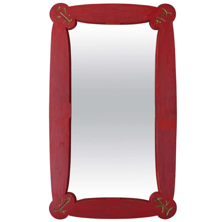 Art deco chinese style mirror france 1950s at 1stdibs for Asian style mirror