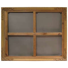 Very Large Trompe-L'Oeil French Carved Wood Frame