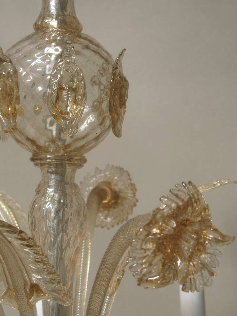 19th Century Venetian Blown Glass Chandelier At 1stdibs