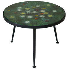 Coffee Table with Colourful Enameled Top, France, 1950s