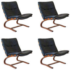 Set of 4 Chairs by Ingmar Relling for Westnofa - Norway, 1970s