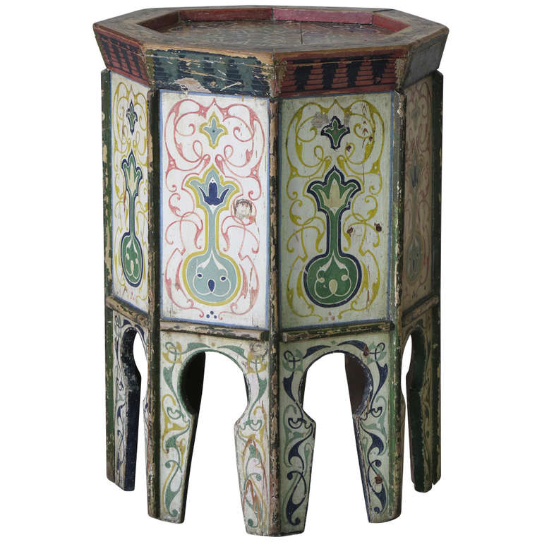 Hand painted oriental stool 1920s at 1stdibs for Hand painted oriental furniture