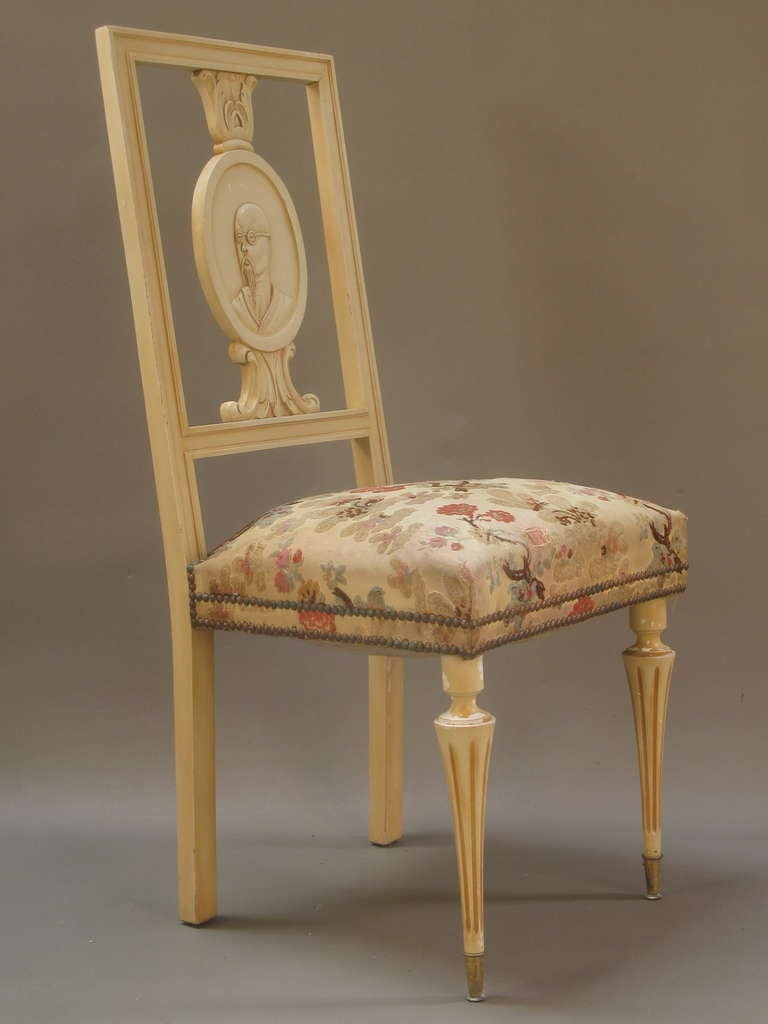 Six Quot Chinese Portrait Quot Chairs France 1940 S For Sale At