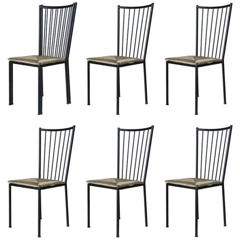 Set of Six Chairs by Colette Gueden, France, 1950s