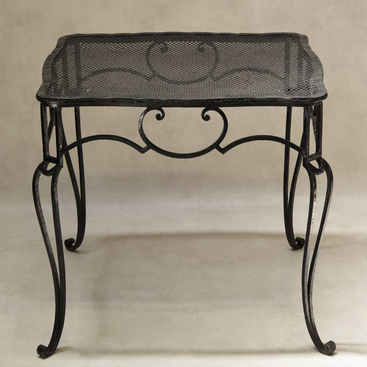Art deco baroque wrought iron table by j c moreux france
