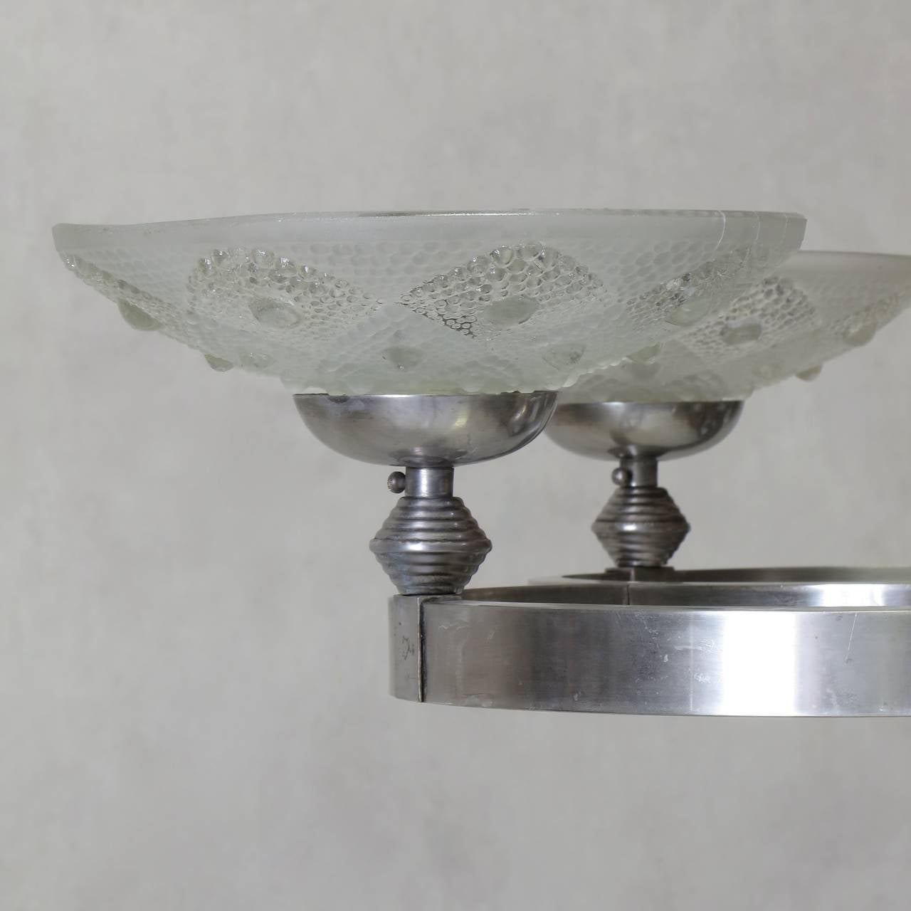 French 1930s Modernist Chandelier For Sale 2