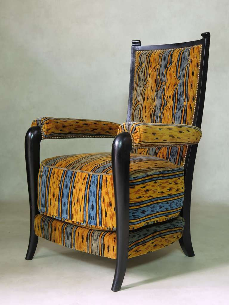 French Set of Three Art Deco Armchairs, France, circa 1930s For Sale
