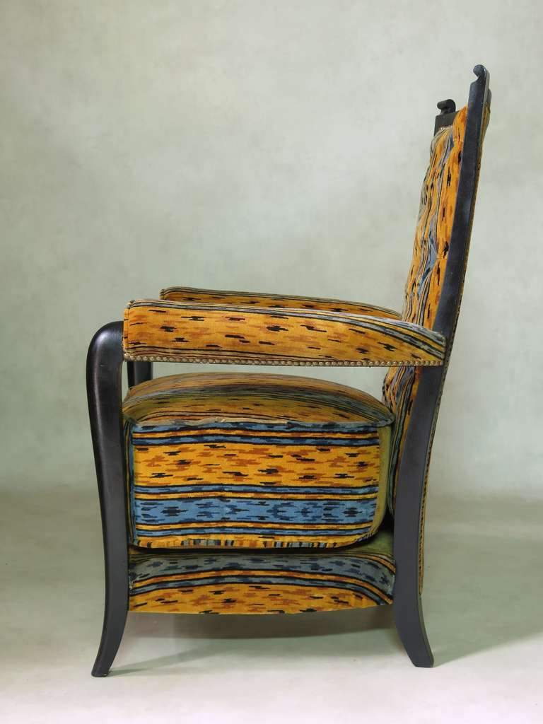 Set of Three Art Deco Armchairs, France, circa 1930s In Excellent Condition For Sale In Isle Sur La Sorgue, Vaucluse