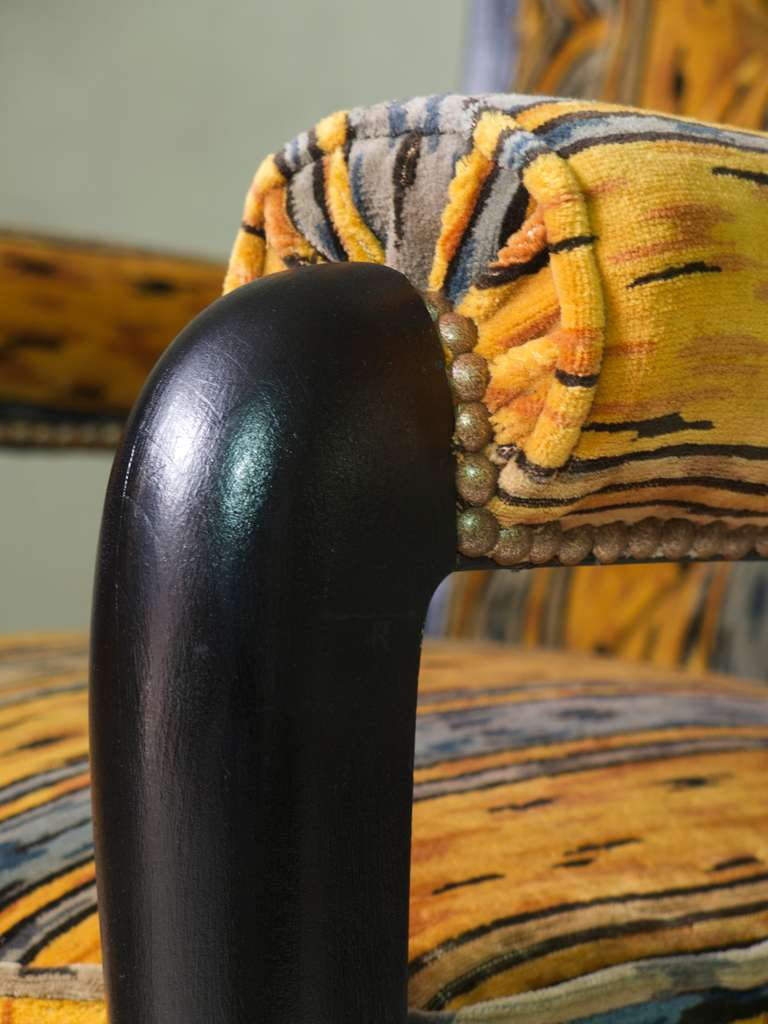 Set of Three Art Deco Armchairs, France, circa 1930s For Sale 2