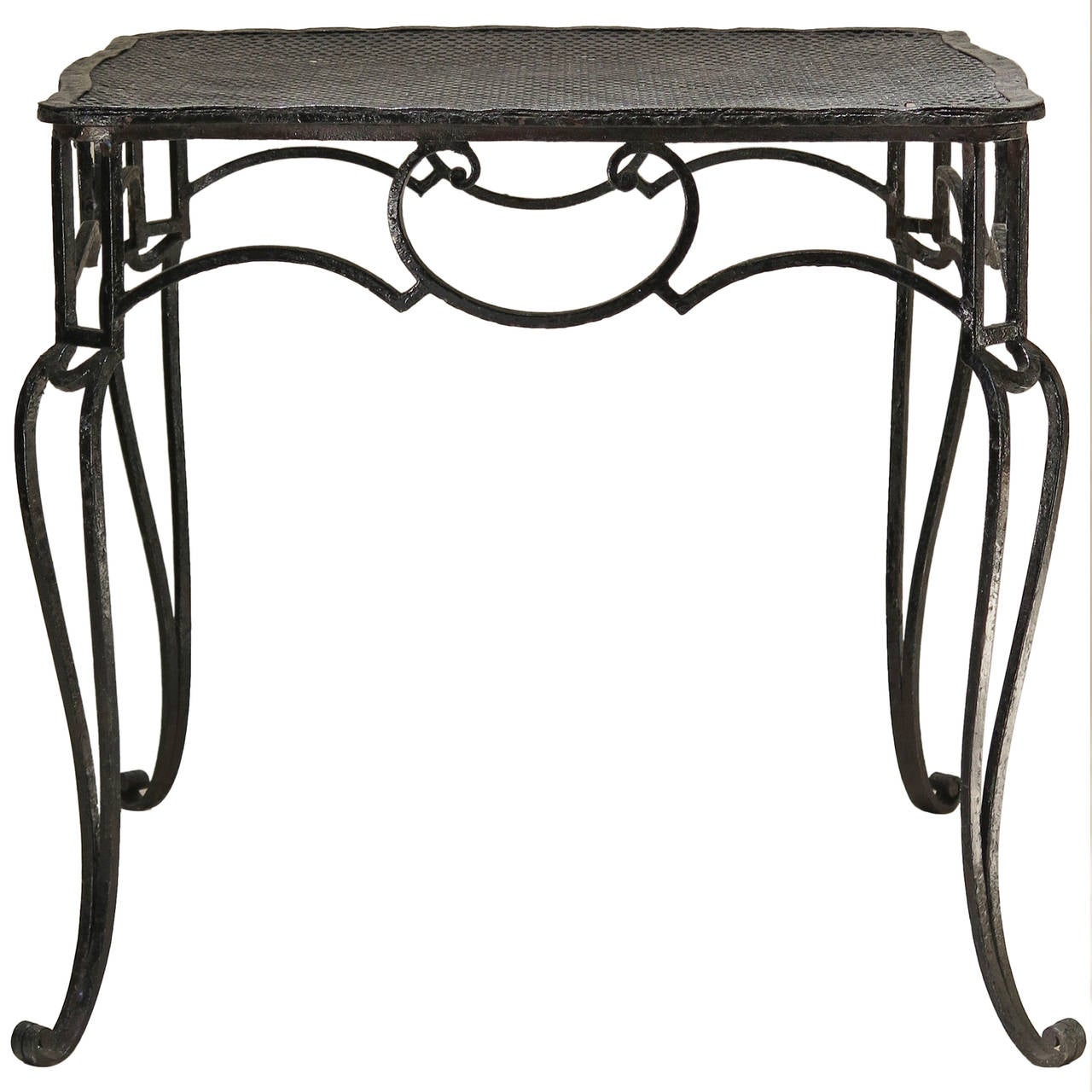 Baroque Wrought Iron Table by J.-C. Moreux - France, 1930s