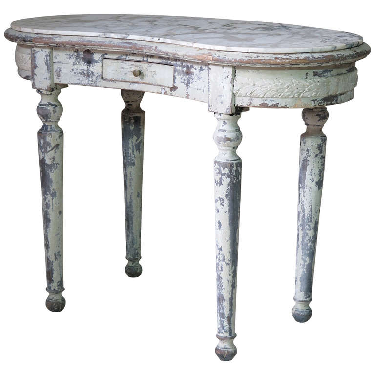 Louis xvi style kidney shaped vanity desk for sale at 1stdibs for Kidney desk for sale
