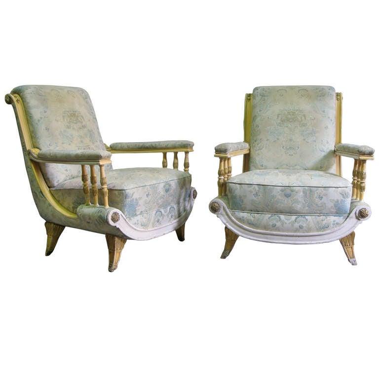 Pair of Crazy 1940s Italian Armchairs