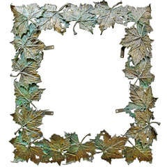 Patinated Bronze Leaf Frame