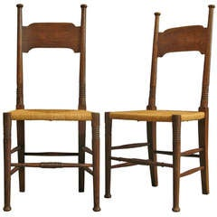Pair of Arts & Crafts Chairs by William Birch