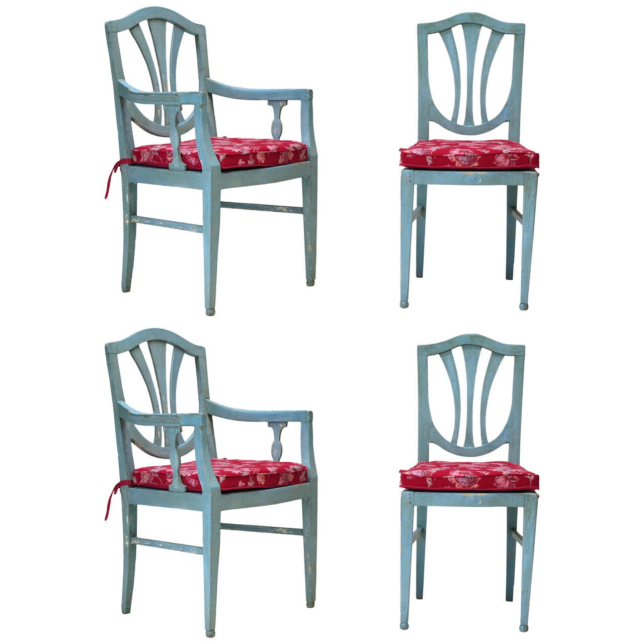 Two Chairs and Two Armchairs, France, circa 1920s