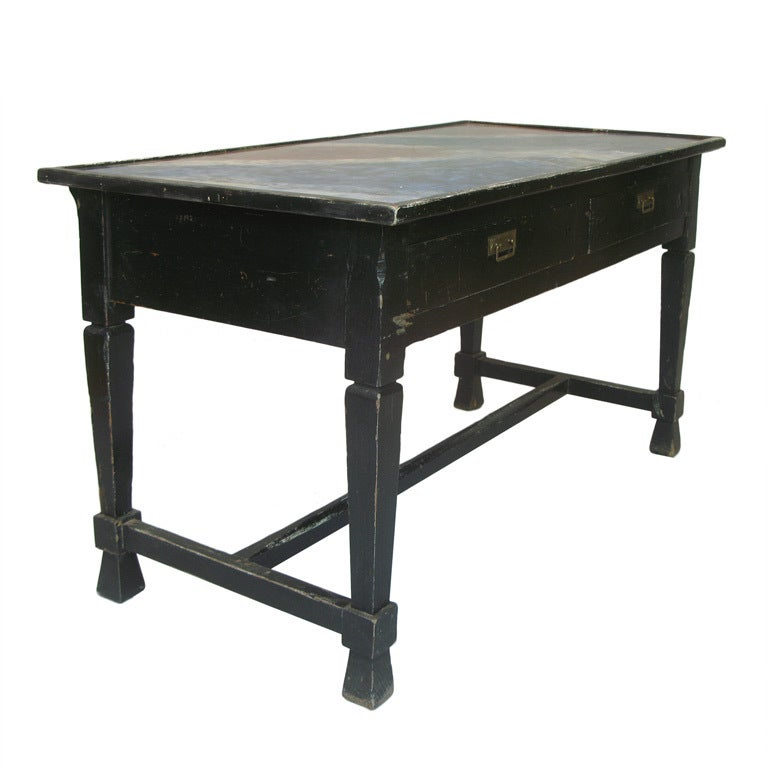 Console Table with Faux Marble Painted Top