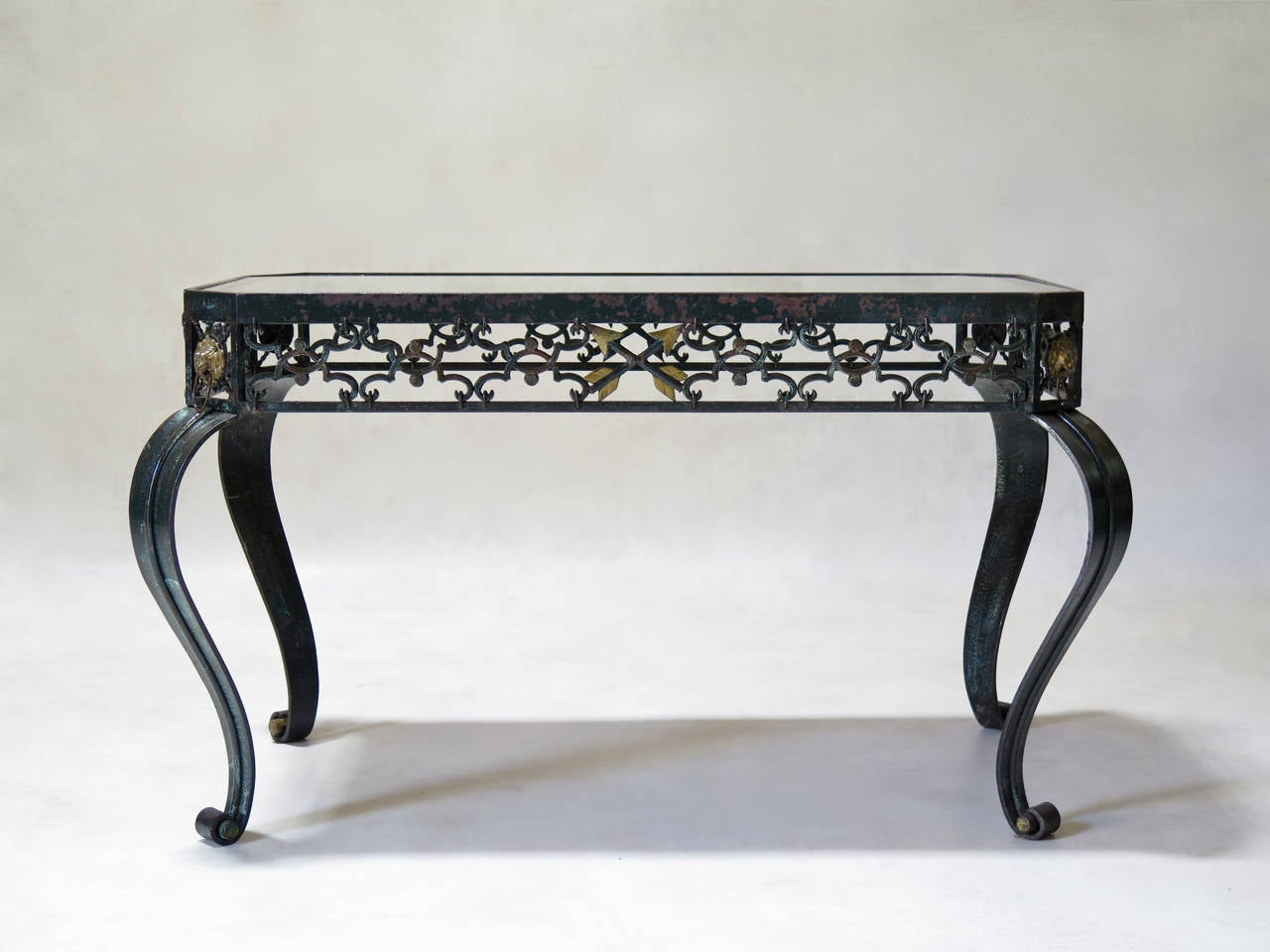 Iron Coffee Tables Trio Of Art Deco Wrought Iron Coffee Tables France 1940s For