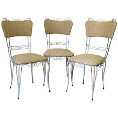 Set of Three French 1950s Chairs