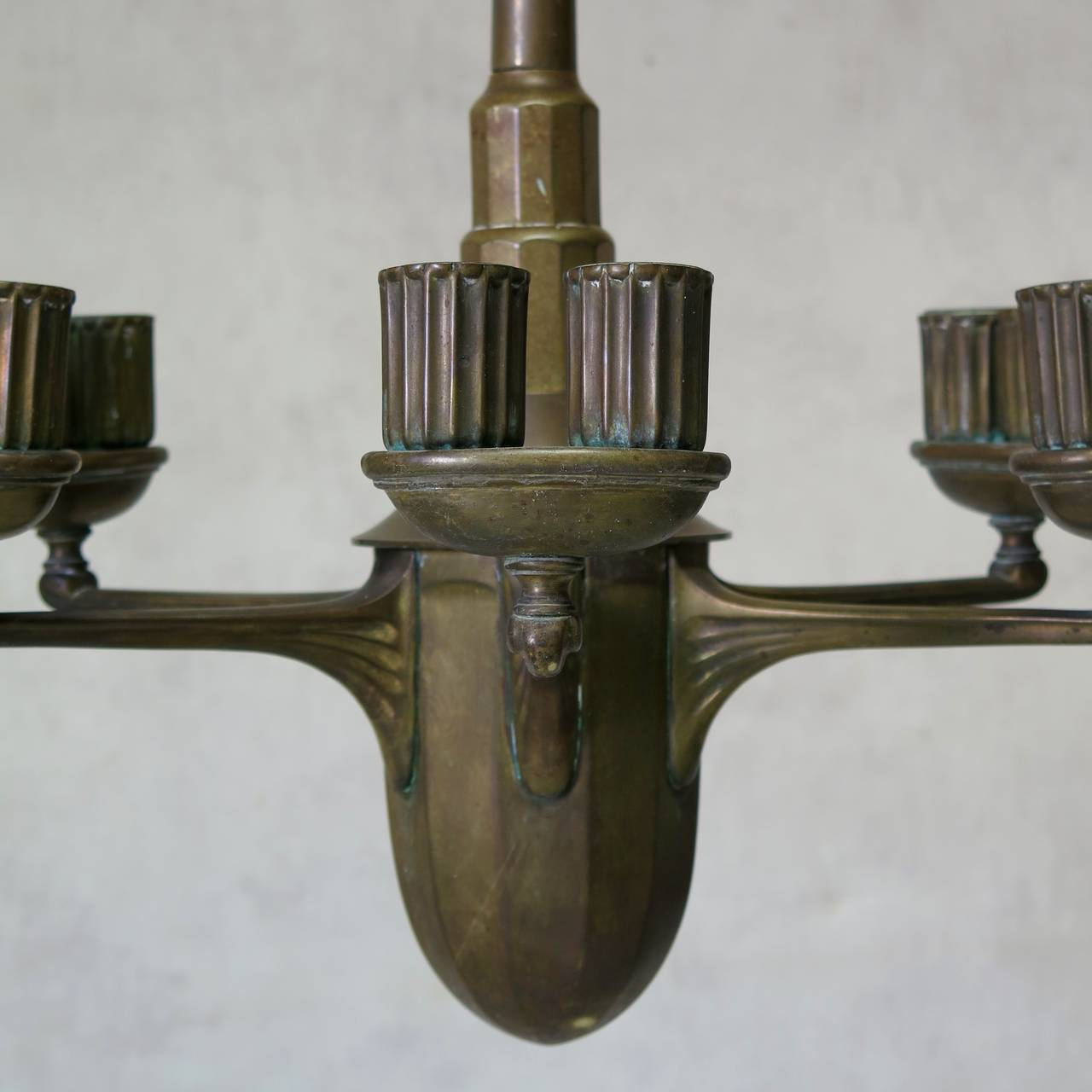 Bronze Chandelier France Early 1900s For Sale At 1stdibs