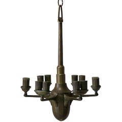 Bronze Chandelier, France, Early 1900s