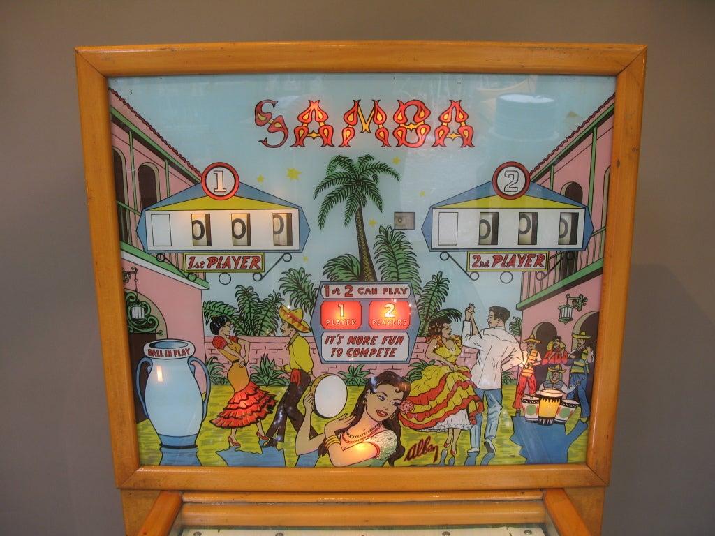 French Samba Pinball Machine From 1961 For Sale