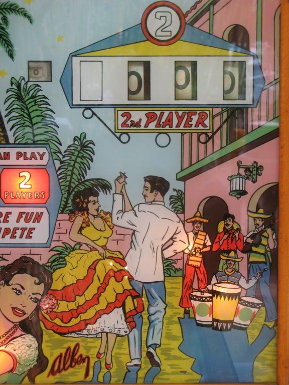 20th Century Samba Pinball Machine From 1961 For Sale