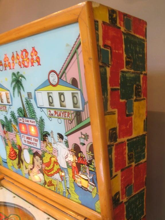 Samba Pinball Machine From 1961 For Sale 3
