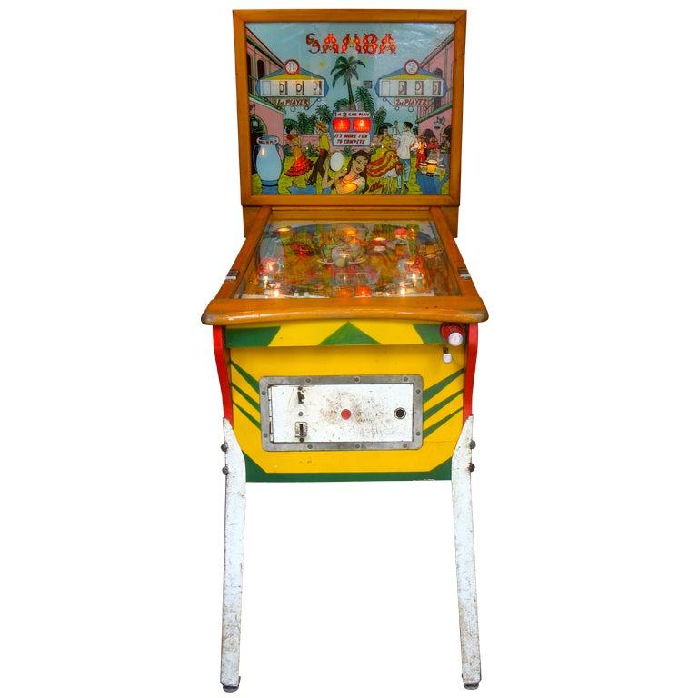 Samba Pinball Machine From 1961 For Sale