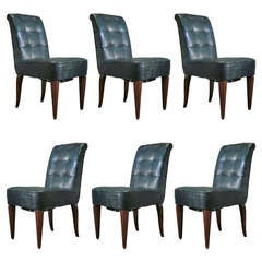 Set of Six French Art Deco Chairs from a Cruise Ship