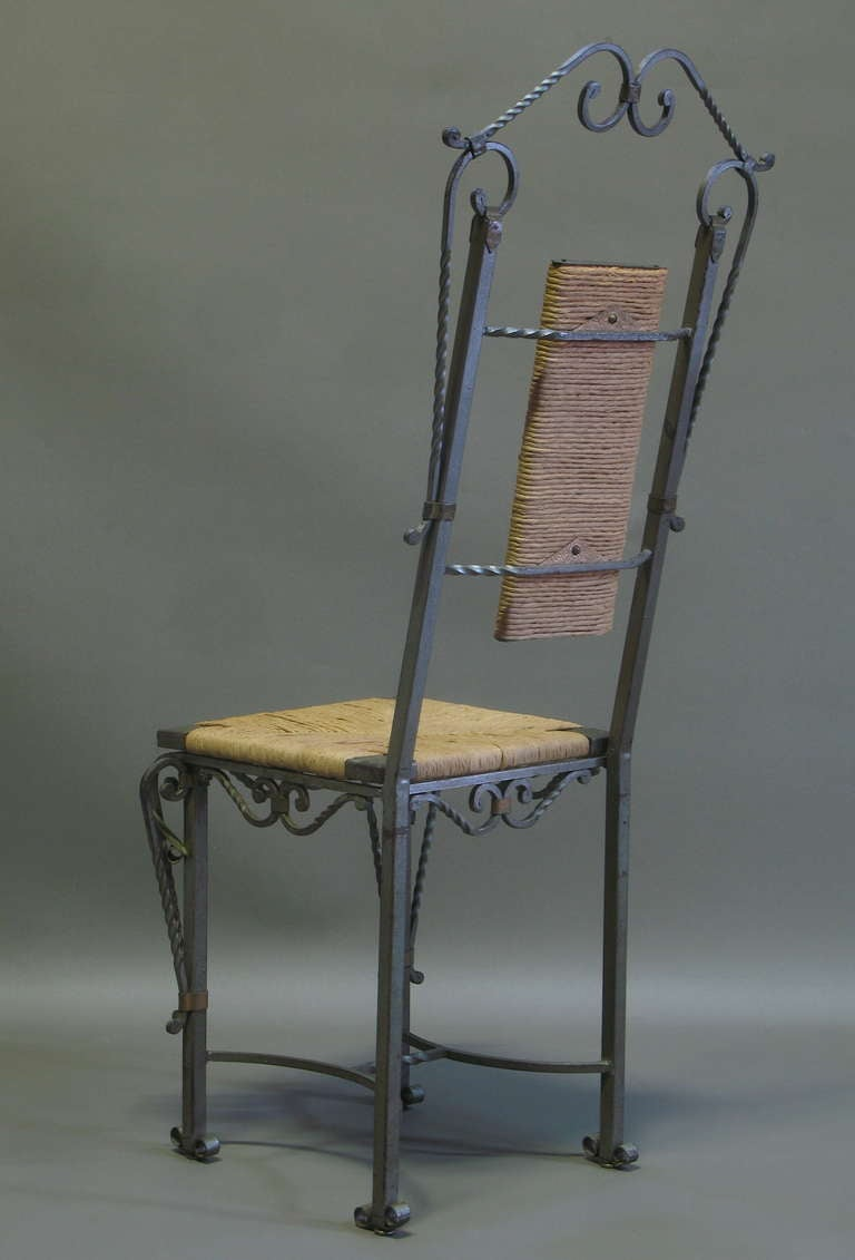 french 1940s wrought iron dining room set image 6
