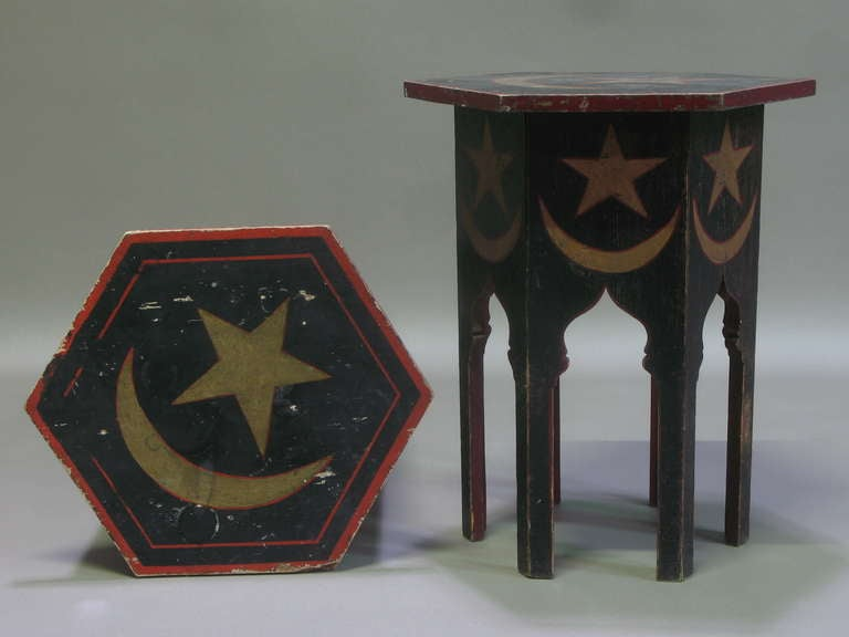 Pair Of Painted Oriental Side Tables At 1stdibs