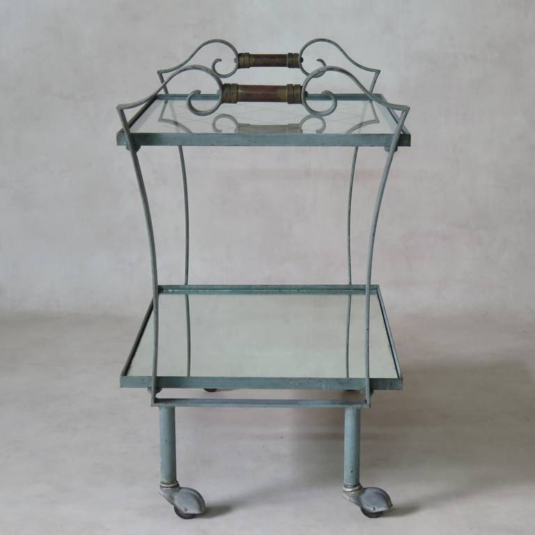 Art Deco French, 1940s Trolley In Excellent Condition For Sale In Isle Sur La Sorgue, Vaucluse
