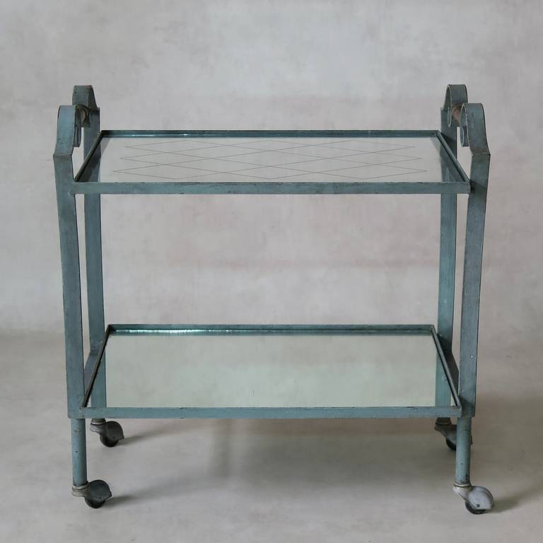 Mid-20th Century Art Deco French, 1940s Trolley For Sale