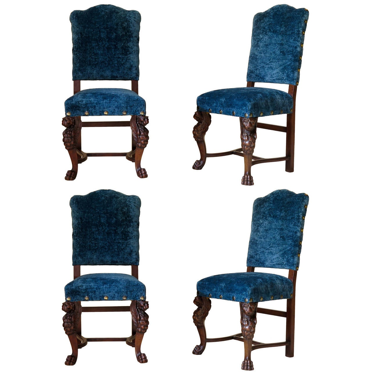 Set of Four Renaissance Style Chairs - France, 19th Century